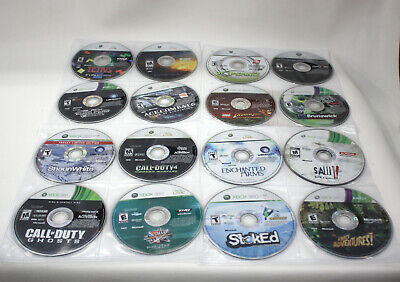 Large Lot of 55 Xbox 360 Video Games, No Cases -Minecraft, Skyrim, Halo, Lego...