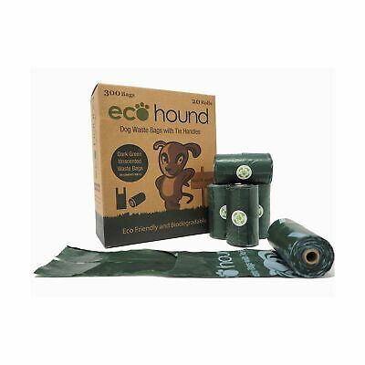 Ecohound 300 Dog Poo Bags With Tie Handles | Medium Dog Waste Bags. NEW