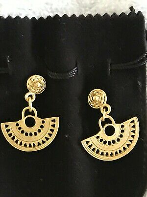 Pre-columbian Reproduction 24 Karat Gold Plated   Abanico