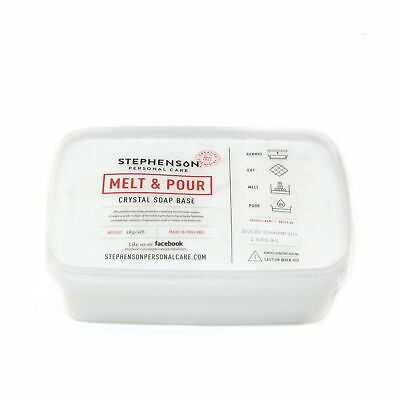 Melt and Pour Soap Base - Solid Shampoo SLS FREE - 1Kg NEW