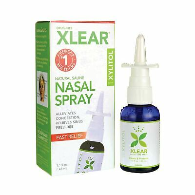 Xlear Sinus Care Saline Nasal Spray with Xylitol, 45ml (1.5oz) Pack of 1 NEW