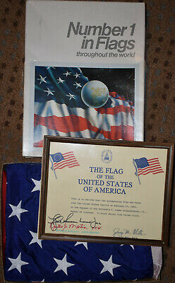 """""""Capitol Flag Program"""" 3X5 Nylon American Flag that was flown over the Capital"""