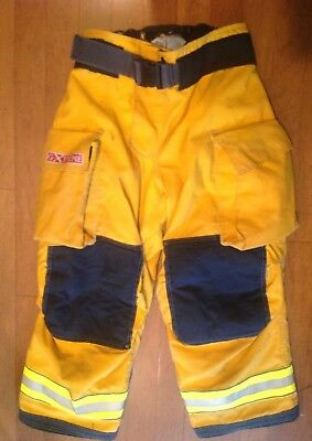 Firefighter's Globe G Extreme Turnout Pants. Yellow. 36X28. 6/2008. Used.
