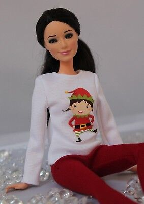 №163 Clothes for Barbie Doll. Blouse and Leggings for Dolls.