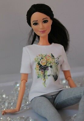 №155 Clothes for Barbie Doll. T-shirt and Leggings for Dolls