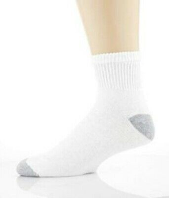 Gildan Men's Big and Tall Ankle Socks 10 Pair Pack, White, Shoe Size: 12-15