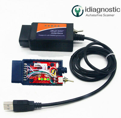 ELM327 USB MODIFIED for Ford ELMconfig HS-CAN / MS-CAN Forscan OBD2
