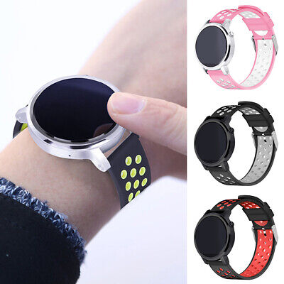 BU_ 22mm Silicone Watch Band Strap Wristband for Huawei AMAZFIT 2 2S Samsung Gal