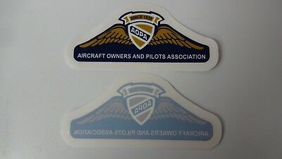 "2 AOPA Aircraft Owners and Pilots Association Decal / Sticker 5 1/5"" x 2"""