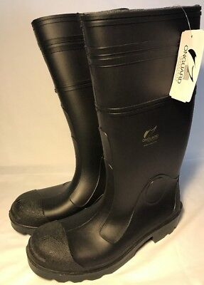 edbee1c79de19 USA MADE ONGUARD Industries Black Rubber Boots Mens 8 (Womens 10 ...