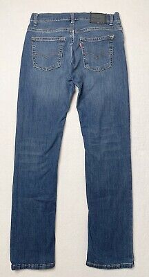 LEVIS 511 Jeans Mens 29 x 29 Whiskered Denim Stretch Performance Slim Skinny Fit