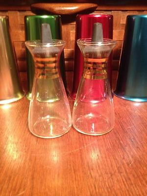 Pyrex glass salt and pepper cruets
