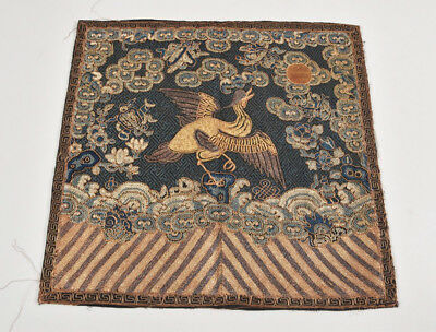 Antique Chinese Mandarin Rank Buzi Embroidery China Qing Dynasty