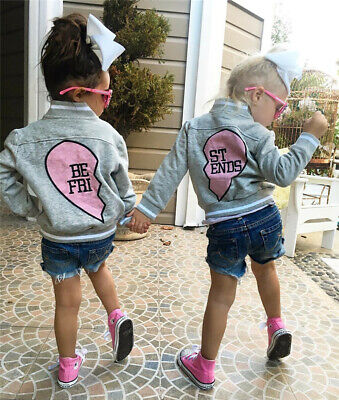 Best friends matching heart jackets for babies & kids, friends, twins, siblings