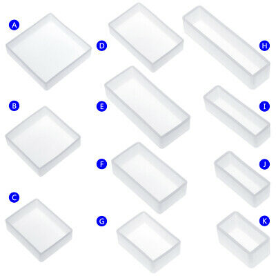 DIY Silicone Mold Square Rectangle Resin Exopy Mirror Mould Jewelry Decor
