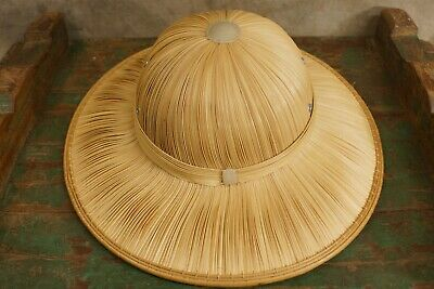 91440469c2756e VINTAGE 1940'S LIFEGUARD Pith Helmet Military Safari Hat Surfer Sun ...