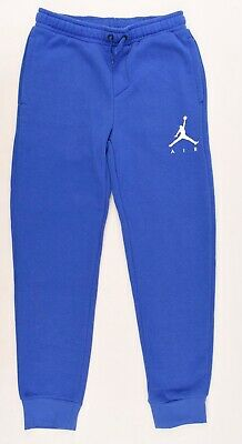 NIKE AIR JORDAN Boys' Kids' Fleece Lined Joggers, Royal Blue, size 10-12 years