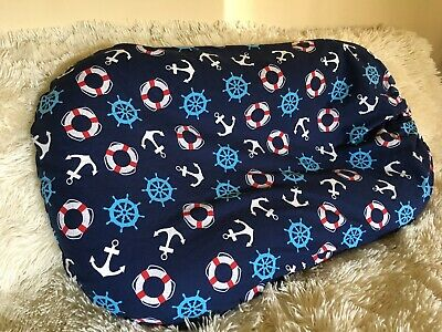Snuggle Me Organic Cover Baby Lounger Sleeper Pillow Boy Slip Case Navy Blue