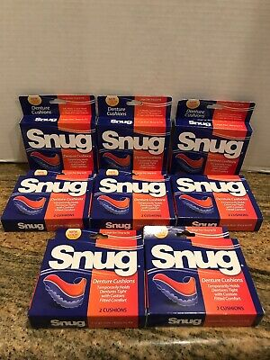 SNUG Denture Cushions 2 cushions Large Size / Easy To Fit Lot Of 8 = 16 Cushions