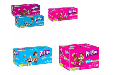 Huggies Pull-Ups Plus Training Pants Diapers for Boys-Girls Select Sizes