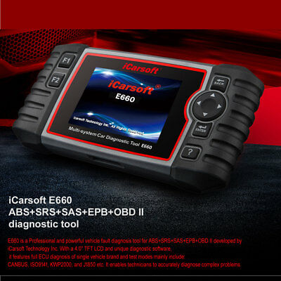 iCarsoft E660 ABS+SRS+SAS+EPB+OBD II Diagnostic Tool work on Multi Brands