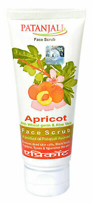 Patanjali Apricot with Wheat germ & Aloe Vera Face Scrub 60 gm Natural skin glow