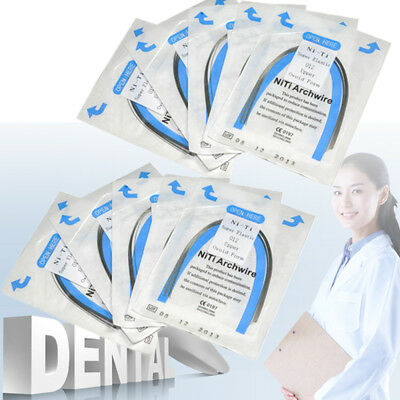 10pc Dental Orthodontic NITI Super Elastic Round Arch Wires 0.012~0.020 U/L SALE