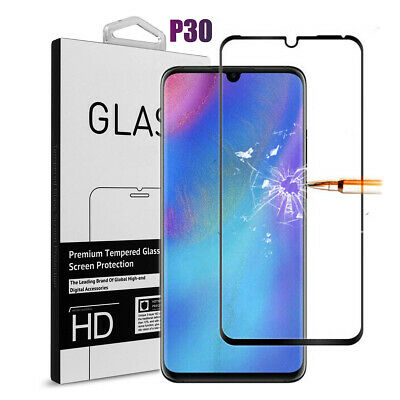 For Huawei P30 5D FULL COVER Gorilla Premium Tempered Glass Screen Protector UK