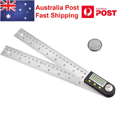 200mm 8 Inch Digital Angle Finder Meter Protractor Stainless Steel Ruler 0-360°