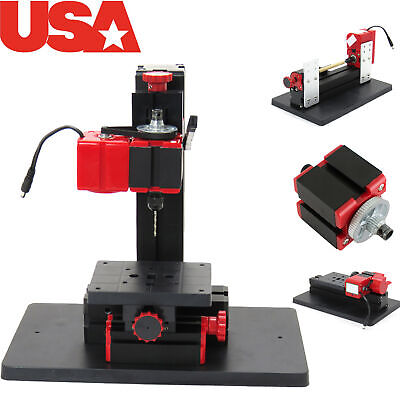 Mini 6in1 Lathe Metal Art DIY Tool Jigsaw Milling Lathe Drilling Machine 【US】