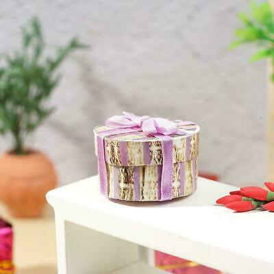 1:12 Dollhouse Miniature Accessories Mini Purple Gift Box Doll House Decora R5Z4