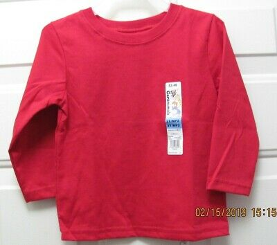 BOYS RED Long Sleeve Tee Shirt Top By GARANIMALS Size 2T NEW W TAGS
