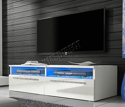 COSMETIC DAMAGED WestWood High Gloss Matt TV Cabinet Unit Stand LED Light TVC04