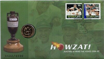 2006 2007  Cricket $1 Australia Ashes 432 Of 8,000 Coin Pnc Acb Licensed  Unc