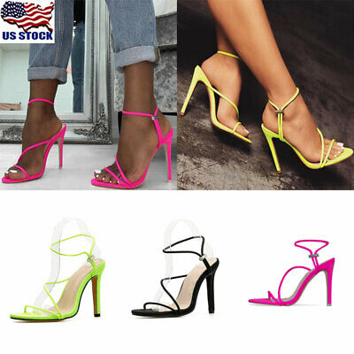 e81e08daacf SEXY WOMENS STILETTOS High Heels Sandals Summer Party Pumps Pointed Toe  Shoes US