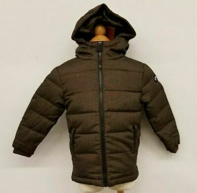 Appaman Kids Toddlers Winter Hooded Coat Jacket Duck Down Feather Fill Brown Tan