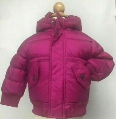 Appaman Kids Toddlers Hooded Bomber Jacket Coat Duck Down Feather Fill Pink Blue