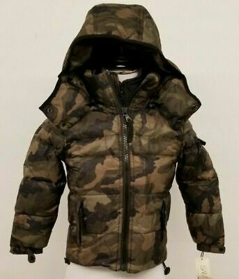 SAM Kids Puffer Jacket Coat Goose Down Feather Fill Camoflouge black green brown