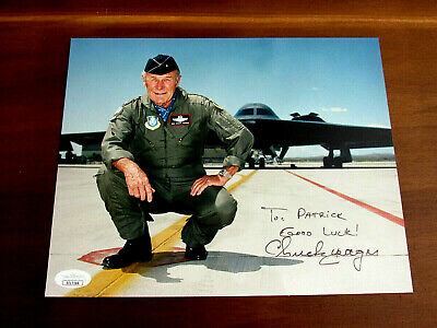 CHUCK YEAGER SPEED Of Sound Ace Pilot F20 Tigershark Signed