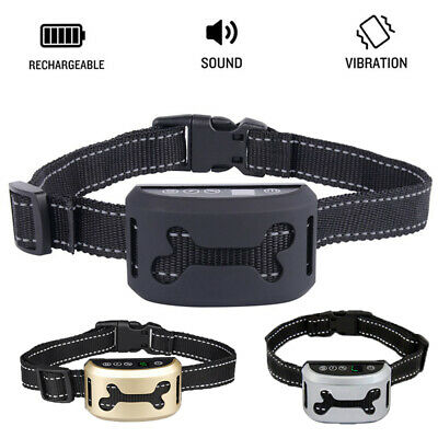 Auto Anti Bark Dog Collar Rechargeable Stop Barking Pet Humane 7-Mode Waterproof