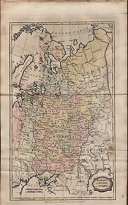 1806 Antique H/Col Map - Muscovy Or Russia In Europe