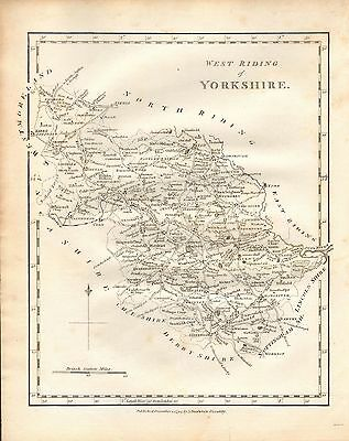 1794 Antique Map- Yorkshire, West Riding  By John Stockdale