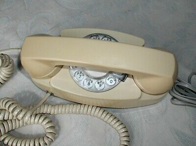 Vtg.Western Electric Bell PRINCESS Rotary Dial Phone:Works.Loud to Silent Ringer