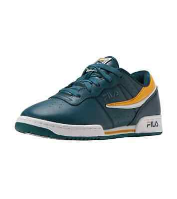 Fila men's original fitness green/white/citrus shoes