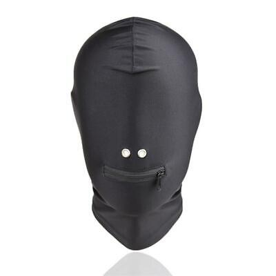 Zip Mouth Mask Spandex Hood Role-play Costume party Cosplay Bondage masque UA660