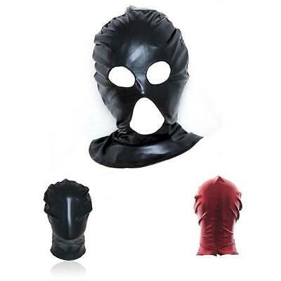 3 STYLE Mask Spandex Stretchy Gimp Hood Sport Party Restraints Hood masque