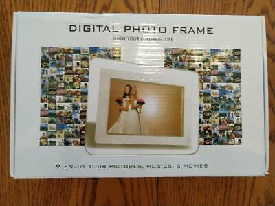 TuPuCN 7 Inch TFT LCD Wide Screen Digital 2000 Photos Picture Frame - Brand New