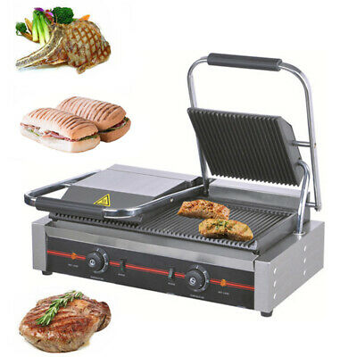 Commercial Electric Panini Toasty Machine Maker Contact Grill Griddle Hotplate