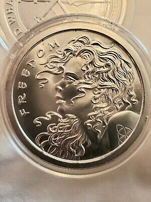 2019 Silver Shield 1 oz. FREEDOM GIRL BU Silver Round in Capsule! .999 Pure