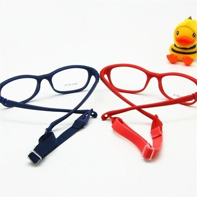 Children Optical Glasses Frame With Strap Size 48 No Screw Flexible With Cord